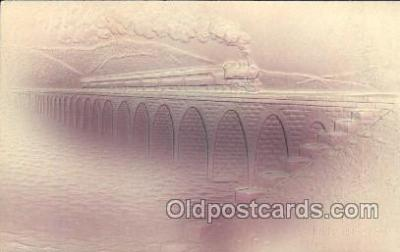 trn001028 - Rockville Bridge, Harrisburg, PA, USA Train Trains, Postcard Postcards