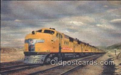 trn001032 - Union Pacific Railroad, Los Angeles, CA, USA Train Trains, Postcard Postcards