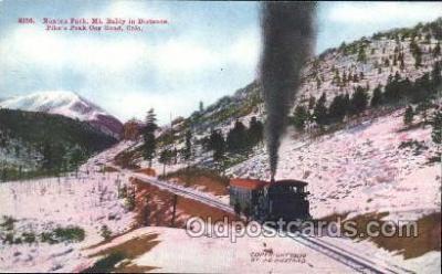 trn001038 - Pike Peak Cog Road , CO, USA Train Trains, Postcard Postcards