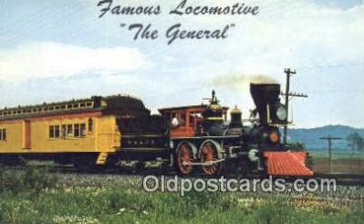 trn001056 - The General, Paterson, New Jersey, NJ USA Trains, Railroads Postcard Post Card Old Vintage Antique
