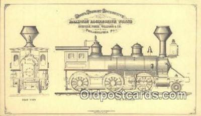 trn001063 - Baldwin Locomotive Works, Philadelphia, Pennsylvania, PA USA Trains, Railroads Postcard Post Card Old Vintage Antique