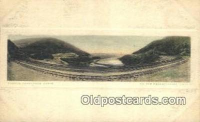 trn001071 - Famous Horseshoe Curve On The Pennsylvania Lines Trains, Railroads Postcard Post Card Old Vintage Antique