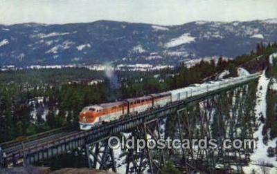 trn001085 - The Vista Dome, San Francisco, California, CA USA Trains, Railroads Postcard Post Card Old Vintage Antique