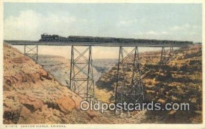 trn001092 - Canyon Diablo, Arizona, AZ USA Trains, Railroads Postcard Post Card Old Vintage Antique