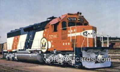 trn001108 - Santa Fe Railway Company's Unit Number 5700, USA Trains, Railroads Postcard Post Card Old Vintage Antique