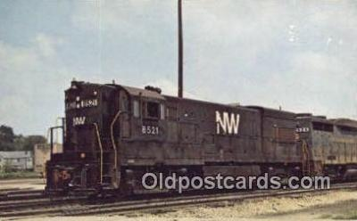 trn001123 - Norfolk And Western 8521, Bellevue, Ohio, OH USA Trains, Railroads Postcard Post Card Old Vintage Antique
