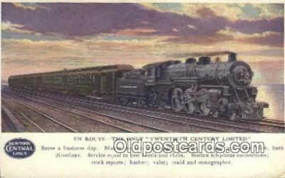 trn001136 - Twentieth Century Limited, Chicago, Illinois, IL USA Trains, Railroads Postcard Post Card Old Vintage Antique