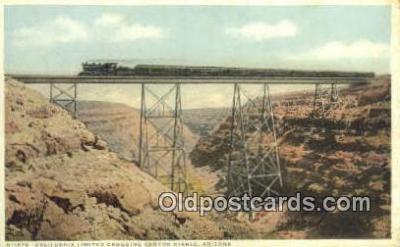 trn001149 - California Limited, Canyon Diablo, Arizona, AZ USA Trains, Railroads Postcard Post Card Old Vintage Antique
