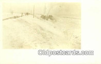 trn001151 - Rail Snow Plow Trains, Railroads Postcard Post Card Old Vintage Antique