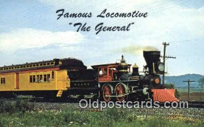 trn001158 - The General, Paterson, New Jersey, NJ USA Trains, Railroads Postcard Post Card Old Vintage Antique