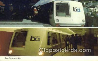 trn001163 - San Francisco Bart, San Francisco, California, CA USA Trains, Railroads Postcard Post Card Old Vintage Antique