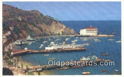 trn001173 - Avalon Bay, Catalina Island, California, CA USA Trains, Railroads Postcard Post Card Old Vintage Antique