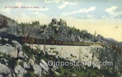 trn001178 - On The Summit, Buttle, Montana, MT USA Trains, Railroads Postcard Post Card Old Vintage Antique