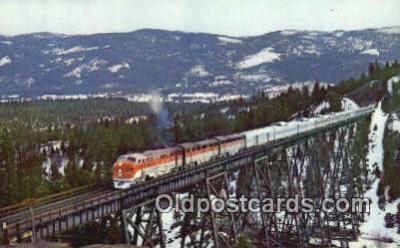 trn001188 - The Vista Dome, San Francisco, California, CA USA Trains, Railroads Postcard Post Card Old Vintage Antique
