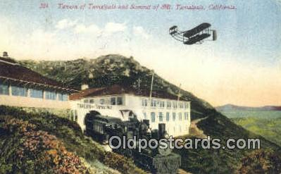 trn001189 - Tavern Of Tamaipais And The Summit Of Mount, Tamaipais, California, CA USA Trains, Railroads Postcard Post Card Old Vintage Antique