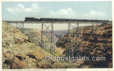 trn001196 - California Limited, Canyon Diablo, Arizona, AZ USA Trains, Railroads Postcard Post Card Old Vintage Antique