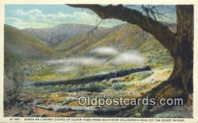 trn001200 - Santa Fe Limited, California, CA USA Trains, Railroads Postcard Post Card Old Vintage Antique