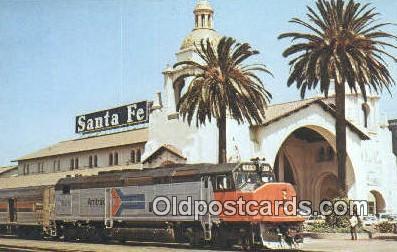 trn001201 - Amtrak 509, San Diego, California, CA USA Trains, Railroads Postcard Post Card Old Vintage Antique