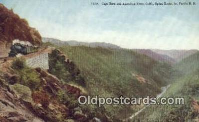 trn001209 - Cape Horn And American River, California, CA USA Trains, Railroads Postcard Post Card Old Vintage Antique