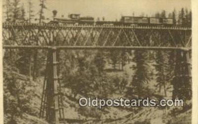 trn001213 - Repro Image - Long Ravine Bridge Trains, Railroads Postcard Post Card Old Vintage Antique