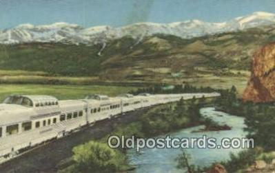 trn001218 - The Diesel Powered Stainless Steel, California, CA USA Trains, Railroads Postcard Post Card Old Vintage Antique