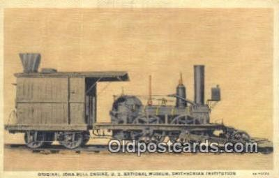 trn001225 - Original John Bull Engine, US National Museum, Smithsonian Institute, USA Trains, Railroads Postcard Post Card Old Vintage Antique