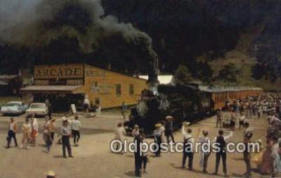 trn001243 - Narrow Cauge Train, Silverton, Colorado, CO USA Trains, Railroads Postcard Post Card Old Vintage Antique