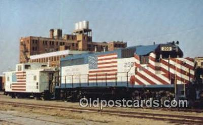 trn001282 - Missouri Kansas  Texas Railroad company, Old Glory Trains, Railroads Postcard Post Card Old Vintage Antique
