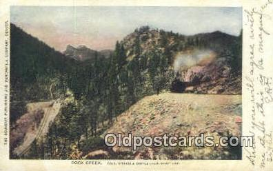 trn001289 - Rock Creek, Colorado, Springs, Colorado, CO USA Trains, Railroads Postcard Post Card Old Vintage Antique