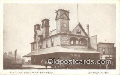 trn001293 - Repro Image Valley Railway Station, Akron, Ohio, OH USA Trains, Railroads Postcard Post Card Old Vintage Antique