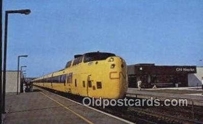 trn001301 - Via CN Turbo, Montreal, Ontario, Canada Trains, Railroads Postcard Post Card Old Vintage Antique