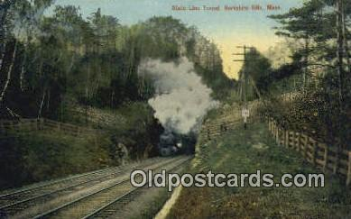 trn001309 - State Line Tunnel, Berkshire Hills, Massachusetts, MA USA Trains, Railroads Postcard Post Card Old Vintage Antique