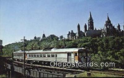trn001320 - CP Train 132 Departs Ottawa Trains, Railroads Postcard Post Card Old Vintage Antique