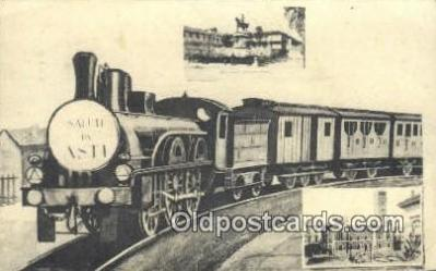 trn001329 - Saleti Da ASTI Trains, Railroads Postcard Post Card Old Vintage Antique