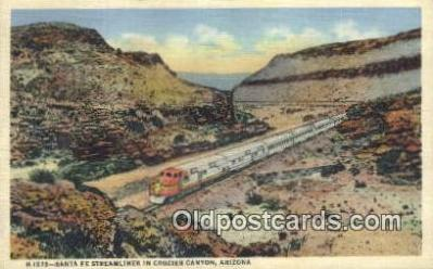 trn001347 - Crozier Canyon, Arizona, AZ USA Trains, Railroads Postcard Post Card Old Vintage Antique