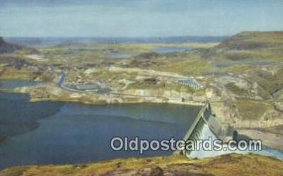 trn001351 - Grand Coulee Dam, Washington, WA USA Trains, Railroads Postcard Post Card Old Vintage Antique