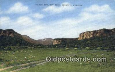 trn001352 - Sun light Basin County, Wyoming, WY USA Trains, Railroads Postcard Post Card Old Vintage Antique