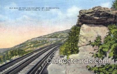 trn001355 - Mount Washington Railway, White Mountains, New Hampshire, NH USA Trains, Railroads Postcard Post Card Old Vintage Antique