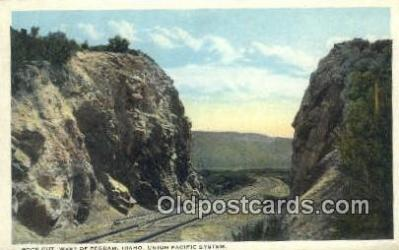 trn001381 - Union Pacific System, Rock Cut, Pegram, Idaho, ID USA Trains, Railroads Postcard Post Card Old Vintage Antique