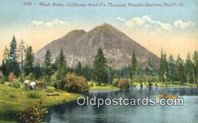 trn001386 - Black Buttes California, CA USA Trains, Railroads Postcard Post Card Old Vintage Antique