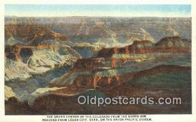 trn001398 - United Pacific System, The Grand Canyon OF The Colorado, Cedar City, Utah, UT USA Trains, Railroads Postcard Post Card Old Vintage Antique