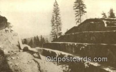 trn001401 - Repro Image Fort Point Cut, PRR Trains, Railroads Postcard Post Card Old Vintage Antique