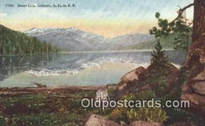 trn001405 - Donner Lake, California, CA USA Trains, Railroads Postcard Post Card Old Vintage Antique