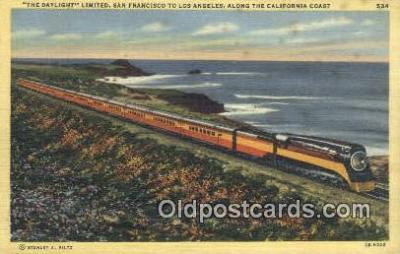 trn001410 - The Daylight, Limited, San Francisco, California, CA USA Trains, Railroads Postcard Post Card Old Vintage Antique