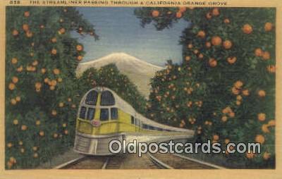 trn001423 - Streamliner, California, CA USA Trains, Railroads Postcard Post Card Old Vintage Antique