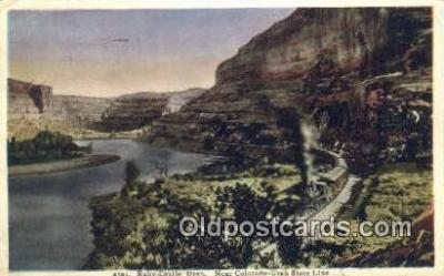 trn001426 - Ruby Castle, Utah, UT USA Trains, Railroads Postcard Post Card Old Vintage Antique