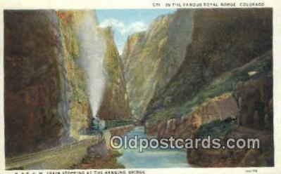 trn001451 - Royal Gorge, Colorado, CO USA Trains, Railroads Postcard Post Card Old Vintage Antique