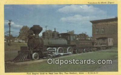 trn001457 - First Engine Used To Haul iron Ore, Two Harbors, Minnesota, MN USA Trains, Railroads Postcard Post Card Old Vintage Antique