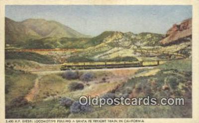trn001460 - Santa Fe Railway, Los Angeles, California, CA USA Trains, Railroads Postcard Post Card Old Vintage Antique