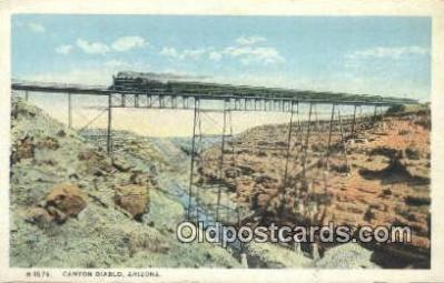 trn001464 - Canyon Diablo, Arizona, AZ USA Trains, Railroads Postcard Post Card Old Vintage Antique